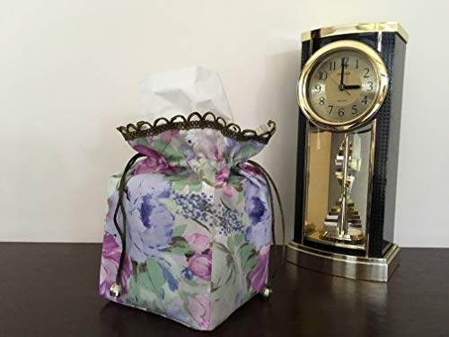 Fabric Tissue Box Cover Handmade by LJL Crafts