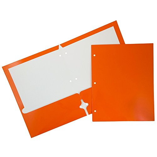JAM Paper Laminated Two Pocket Glossy 3 Hole Punch Folders - Assorted Primary Colors - 6/pack by JAM Paper (Image #7)