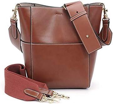 ハンドバッグ - ワイドショルダーストラップバケットバッグショルダーバッグ、大容量のハンドバッグ、ショルダーバッグ、牛革、2つのサイズ よくできた (Size : 22*18*34cm)