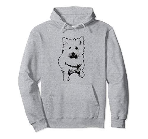 (Westie Terrier Face Hoodie - Dog Mom or Dad Christmas Gift)