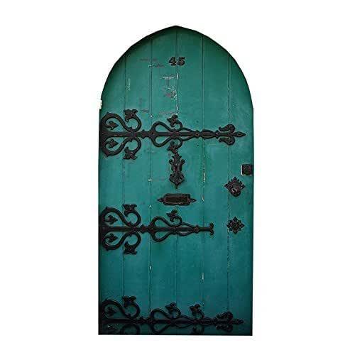Fairy Door Series Fancy Wooden Fairy Door Wall Decal 10 tall x 5 wide
