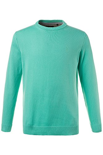 JP 1880 Homme Grandes tailles Pull Homme Uni Col V manches longues - Pyull tricots turquoise XXL 708261 46-XXL