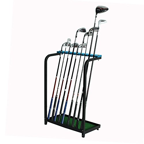 Kofull Golf Club Display Stand Rack Durable Metal Storage 9 Clubs Golf Clubs Shelf Organizers ()
