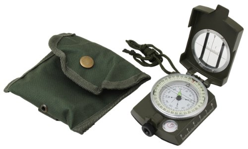 Military Prismatic Sighting Compass w/ Pouch, Outdoor Stuffs