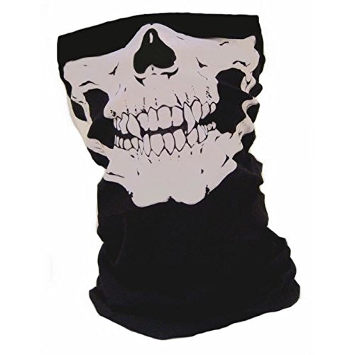 [Wind Resistant Dustproof Face Protective Skull Mask Hood Warm Neck Cover] (Full Face Gas Mask Costume)
