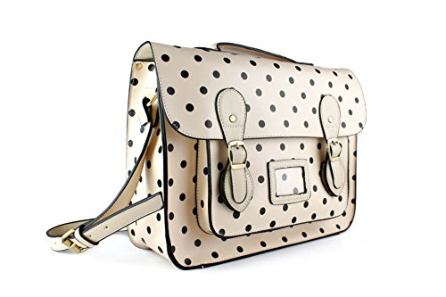 For With Bags Woman Ivory Polka Dots Backpack Foxlady XRqwUU