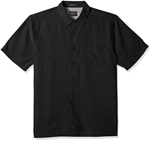 Shirt Up Quiksilver Button - Quiksilver Waterman Men's Centinela 4 Button Down Shirt, Black, XXL
