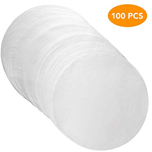 Beaverve Parchment Paper for Baking, 100 Pre-cut Non Stick Round Parchment Sheets for Baking Cakes, Cooking, Cookies, Pastries, Dutch Oven, Air Fryer, Cheesecakes, Tortilla Press (7 inch)