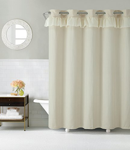 Hookless RBH29FC108 Waterfall Shower Curtain with PEVA liner - Tan