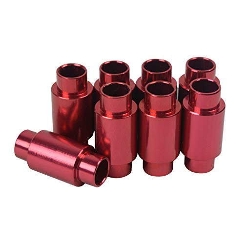 BSB Inline Axle Aluminum Spacer 8-Pack Micro Spacers for Mini Bearings 6mm 688 ()