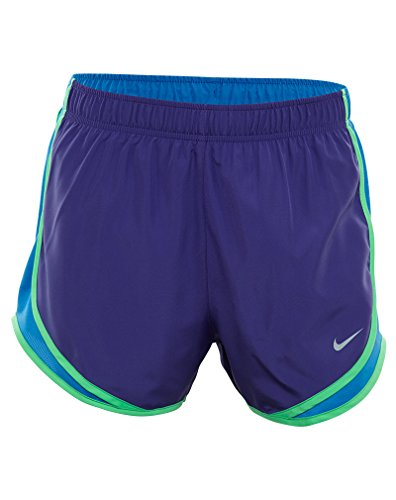 Nike Womens Wet Wicking Colorblock Shorts Corte Viola