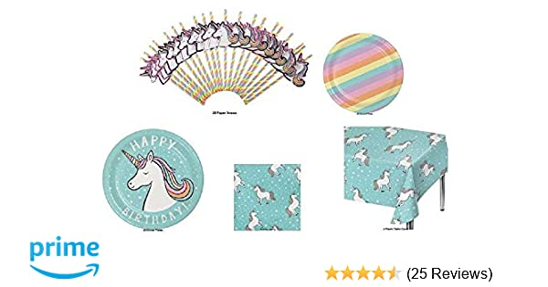 Amazon Happy Birthday Unicorn Theme Party Pack For 20 Plates