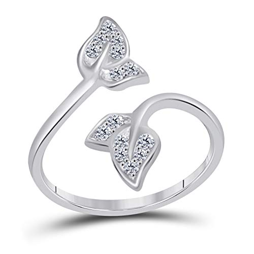 (925 sterling Silver Cubic Zirconia Adjustable Toe Ring)