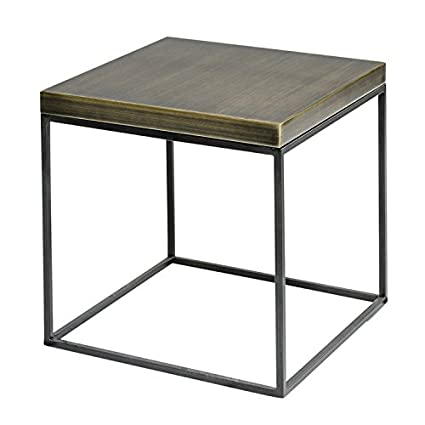 Amazon Com Antique Brass Cube Side Table End Table Coffee Table