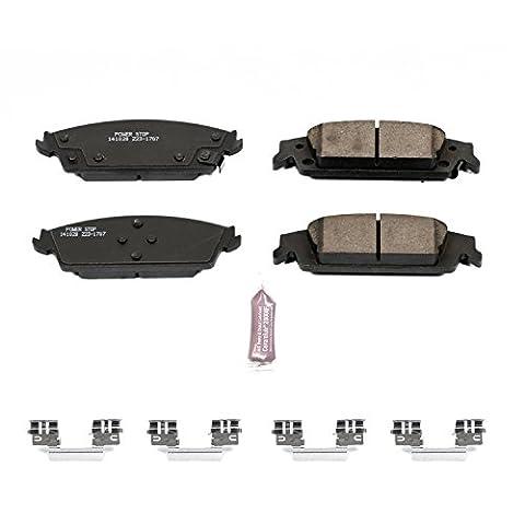 Power Stop Z23-1707 Z23 Evolution Sport Rear Brake Pad Set with Hardware Kit