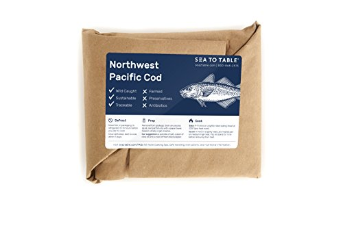 Sea to Table Wild-Caught Northwest Pacific Cod Fillets, 12 - Time Not Delivered Fedex On