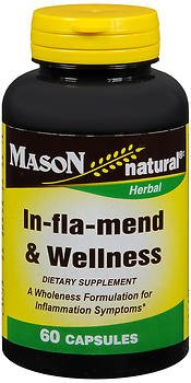 Mason Natural In-Fla-Mend & Wellness Capsules - 60 ct, Pack of 3