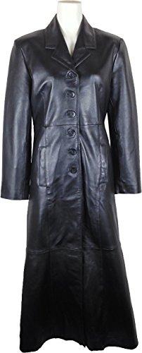 Autentico Nero Cappotto Stile Giacca Vera Classico Pelle Unicorn Impermeabile Donne Lunghezza Lungo ax 5nOxHq1