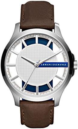 Armani Exchange Men s AX2187 Brown Leather Quartz Watch