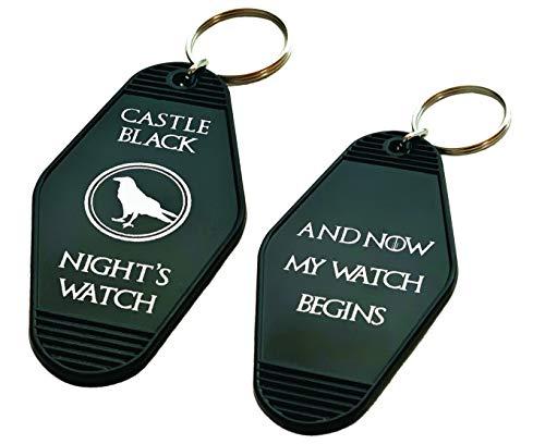 Vintage Hotel Motel Keychain (Black Castle Black) ()