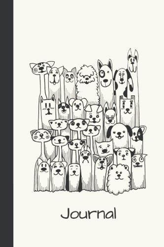 Journal: Funny Dogs 6x9 - DOT JOURNAL - Journal with dotted pages (Dogs & Puppies Dot Journal Series)