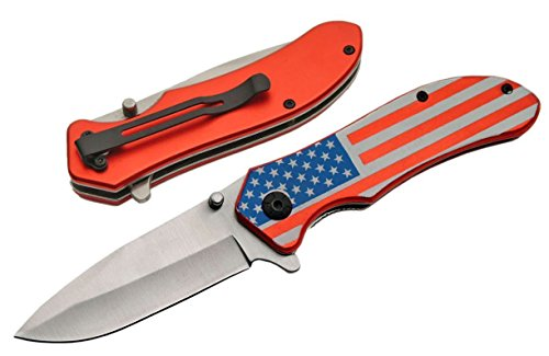 New Cool ProTactical Limited Edition Elite Folding Knife | American Flag Red White Blue Stars and Stripes -