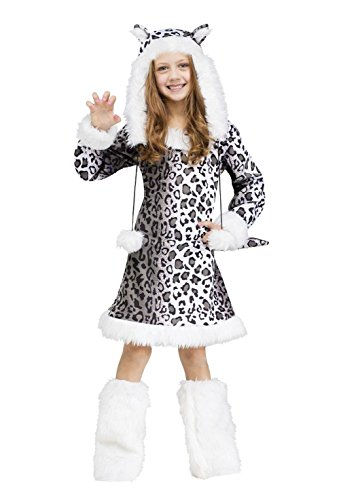 Plush Leopard Child Costumes Kit (Snow Leopard Cat Child Costume)