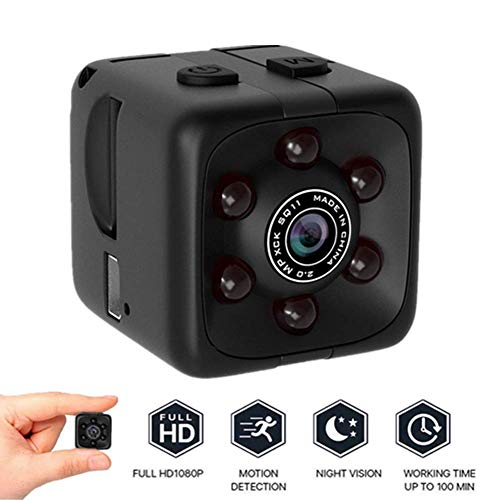 Mini Security Camera System Wireless,1080p HD Spy Camera Hidden Camera - Anti-Theft Mini Camera with Night Vision & Camera Sensor for Indoor or Outdoor Surveillance,Home Office or Car Video Recorder