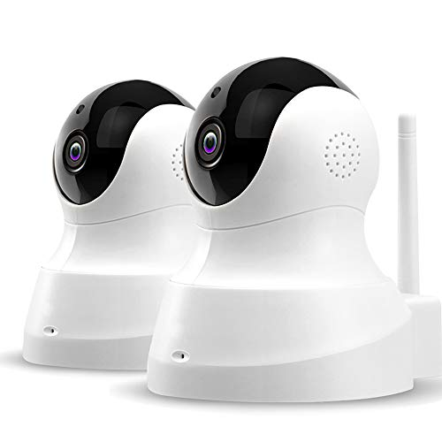 TENVIS Wireless Home Camera - HD Pet Cameras (2-Pack), Home Security System with Motion Detection, Two-Way Audio, Night Vision, PTZ, Indoor Surveillance System and Remote Monitor for Baby/Pet