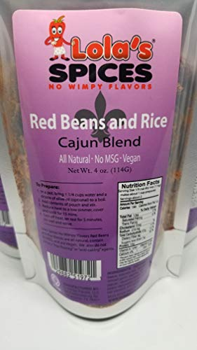 Lola's Spices Cajun Red Beans and Rice (6 Units)