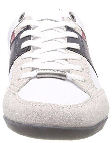 Material Mix Ginnastica Uomo Cupsole White Basse Tommy Bianco Scarpe Hilfiger Corporate 100 da gqtFwER0
