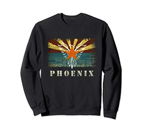 Phoenix Arizona Flag Retro Souvenir Gift Grunge Sweatshirt