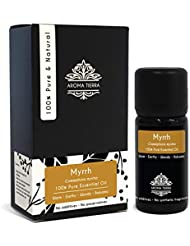 Aroma Tierra Myrrh Essential Oil (Somalia) - 100% Pure, Natural, Undiluted (10ml)