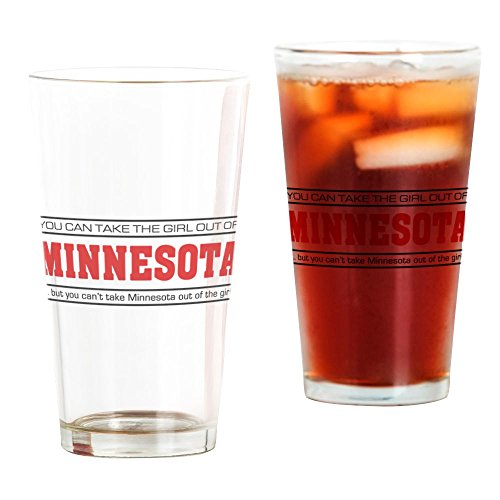 (CafePress Girl From Minnesota' Pint Glass, 16 oz. Drinking Glass)
