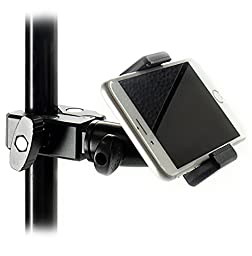 iShot Pro GP5500C iPhone Universal Cell Phone Golf Cart / Microphone / Music / Tripod / Stand C-Clamp Mount - Great for Musicians, Golf, Recording Video, Boats, GPS and More