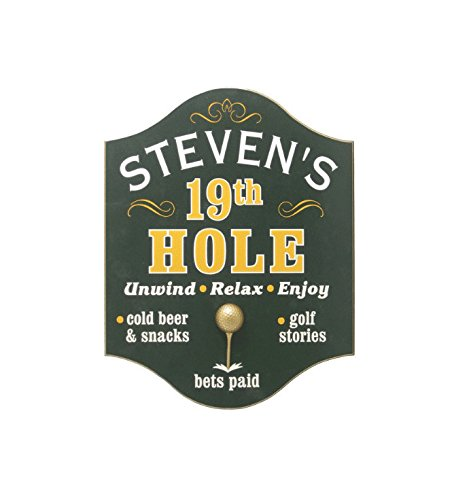 Dom3inic 19th Hole (Golf) Pub Acrylic Sign, 9