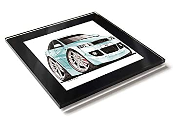 Koolart - Posavasos de cristal con caja de regalo para coche ...