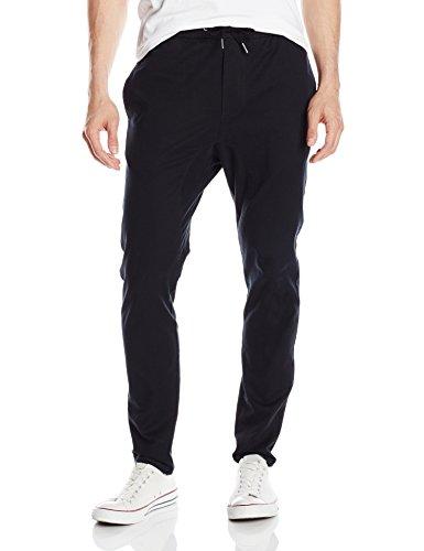 Zanerobe Men's Salerno Chino Drawstring Pants, Black, 36