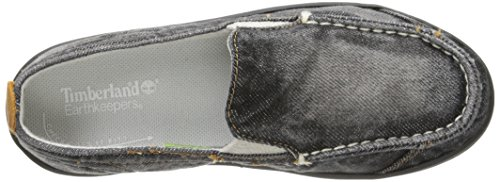 Timberland Hookset SN Slip-On Shoe (Little Kid) Black Denim