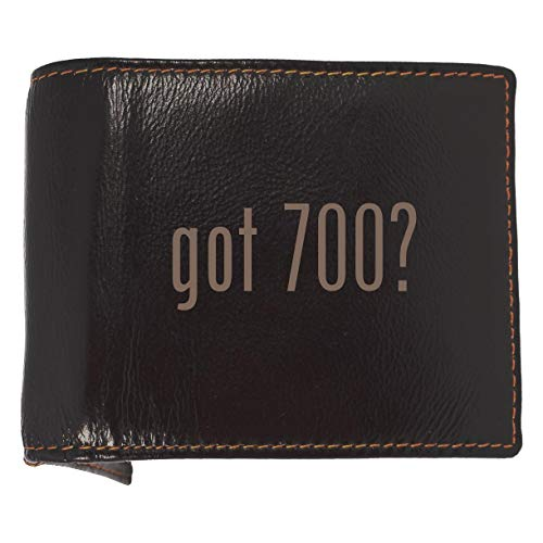 got 700? - Soft Cowhide Genuine Engraved Bifold Leather Wallet