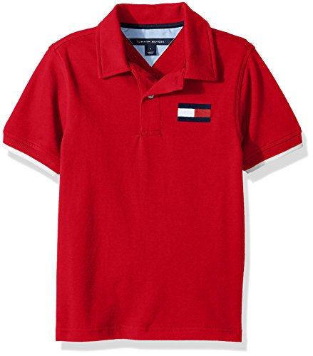 Tommy Hilfiger Little Boys' Jimmy Stretch Pique Polo, Bullseye Red, - Kids For Hilfiger