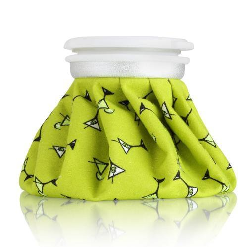 Spa Sister Reusable Hot and Cold Bag, Black Martini with Lime Background, 3-bags (Spa Martini)