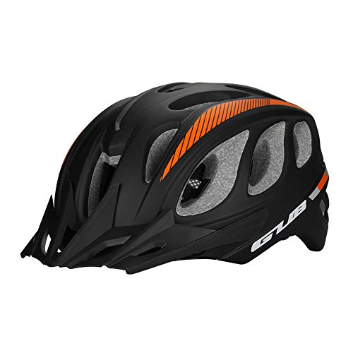 DYM258 Bike Helmet CE Breathable Magnetic Sunglasses Sun hat One-Piece molding Process Safety Protection Suitable for Road Mountain Cycling Men&Women,blackorange