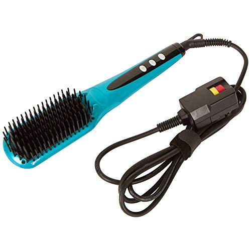 Head Kandy, Straightening Brush 2.0, Teal, Professional Hair Straightener, Tourmaline Infused Ceramic, For All Hair Types