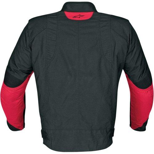 Alpinestars P1 Sport-Touring Drystar Men's Textile Sports Bike Racing Motorcycle Jacket - Black/Red / 2X-Large