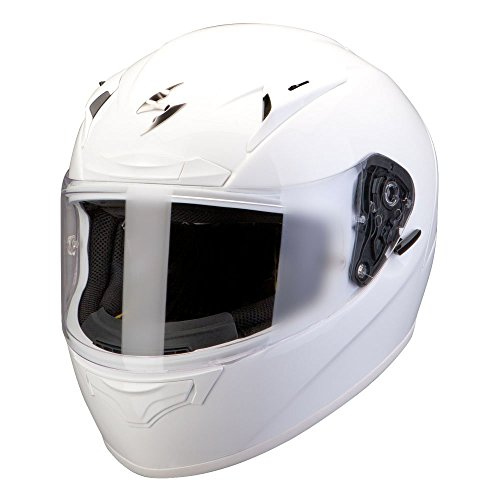 Scorpion Exo 2000 Evo Air Solid Full Face Motorcycle Helmet - Pearl White L (59/60)