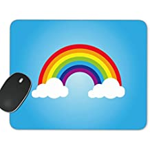 Color Rainbow With Clouds Mouse Pad Desktop Working Mouse Pad Gaming Computer PC Mouse Mat