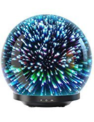 Essential Oil Diffuser - 3D Glass 230ml Galaxy Premium Ultrasonic Aromatherapy Oils Humidifier With Amazing LED Lights, Handy...