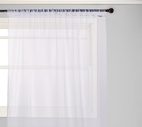 (Curtainworks Soho Voile Sheer Curtain Panel, 59 by 120