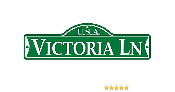 Indoor//Outdoor VICTORIA Street Sign Childrens Name Room Decal